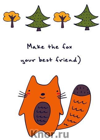 "Блокнот для записей ""Make the fox your best friend"". Серия ""Блокноты Like"""