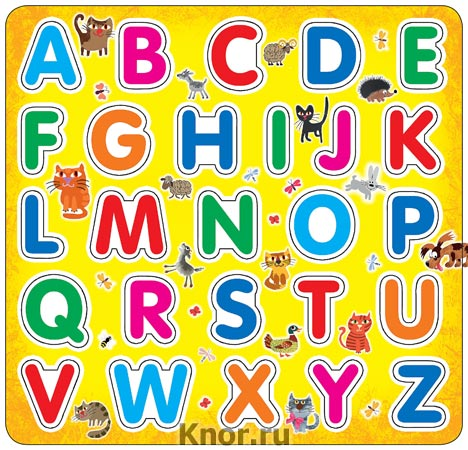 "Английский алфавит на магнитах (Еврослот + методичка). Серия ""Первые знания на магнитах"""