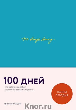 """В. Веденеева """"100 days diary. Ежедневник на 100 дней, для работы над собой (формат А5, тонированная бумага, ляссе, мятная обложка)"""" Серия """"365done. Блокноты и чек-листы. Организуй свою жизнь"""""""