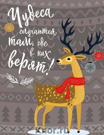 """Блокнот. Новогодние олени (Чудеса случаются). Серия """"Блокноты. Новогодние"""""""