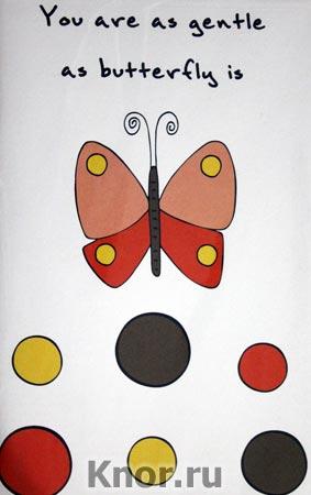 "Блокнот для записей ""You are as gentle as butterfly is"". Серия ""Блокноты Like"""