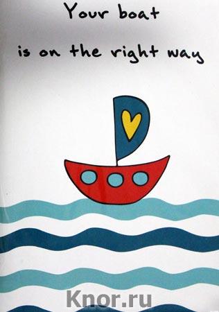 "Блокнот для записей ""Your boat is on the right way"". Серия ""Блокноты Like"""