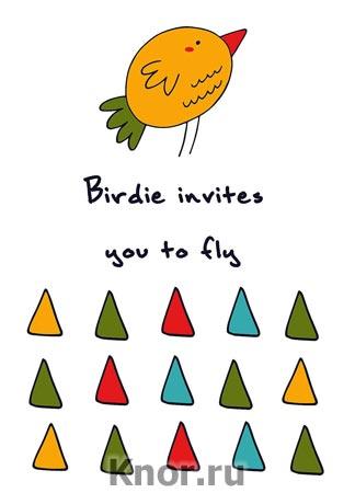 "Блокнот для записей ""Birdie invites you to fly"". Серия ""Блокноты Like"""