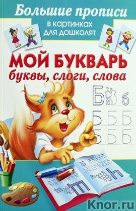 """М. Малышкина """"Мой букварь. Буквы. Слоги. Слова"""" Серия """"Большие прописи в картинках для дошколят"""""""