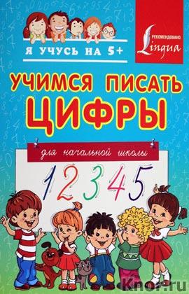 """Учимся писать цифры. Для начальной школы. Серия """"Я учусь на 5+"""""""