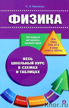 """К.Э. Немченко """"Физика"""" Серия """"Весь школьный курс в схемах и таблицах"""""""