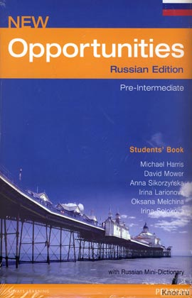 New Opportunities. Pre-Intermediate. Russian Edition. Students`s Book with Russian Mini-Dictionary (большой формат, синяя)